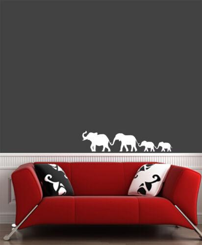 "COLORS WALL Vinyl Wall Decal ©YYDC Elephant Family Walking SM 21/""W x 5/""H"