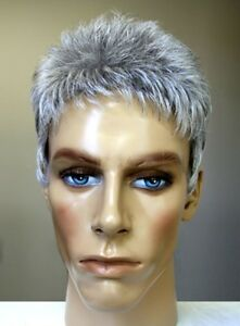 MENS MALE STRAIGHT SPIKY SHORT HAIR WIG DANNY HANDSOME DUDE COSTUME ...