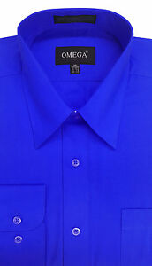 NEW MENS Royal Blue Long sleeve Dress Shirts ALL Sizes, Length | eBay
