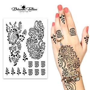 Black Henna Temporary Tattoo Set Kit Arabic Indian Hand Foot Body