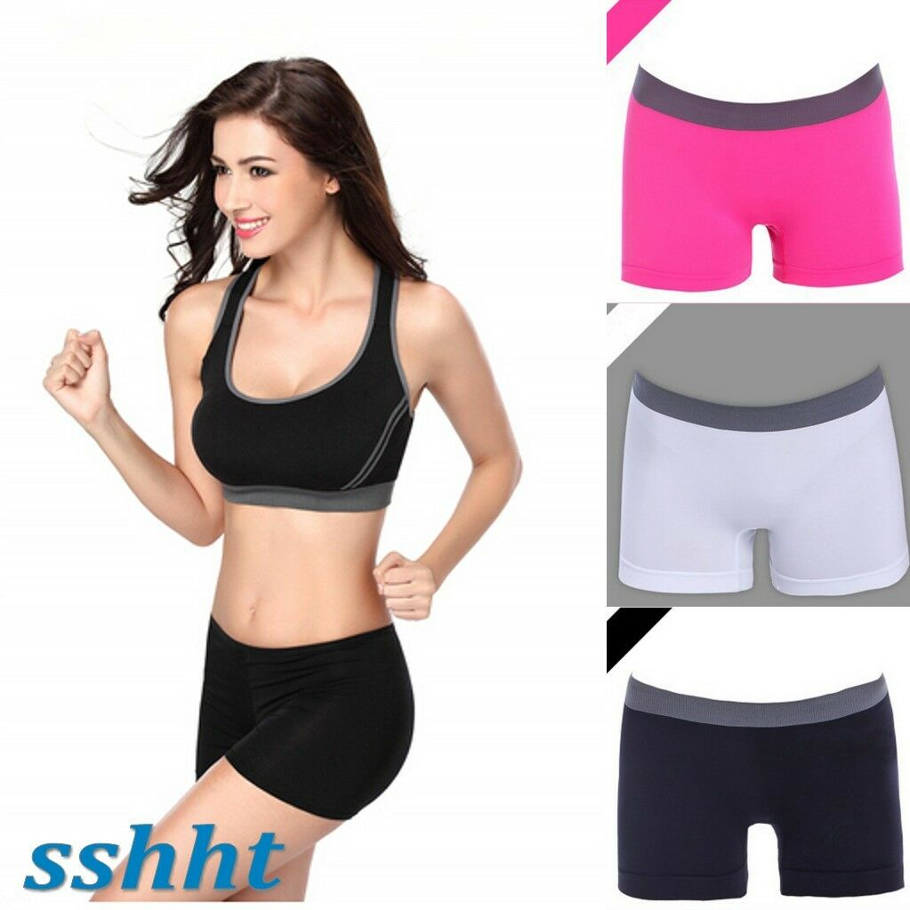 Seamless Stretch Shorts Solid Color Spandex Workout Basic