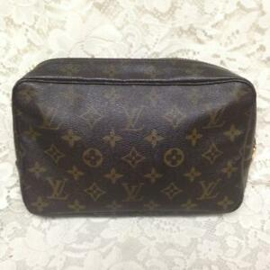 Authentic-Louis-Vuitton-Mono-Brown-Medium-23-Cosmetic-Pouch-9in-x-6in-x-2-5in