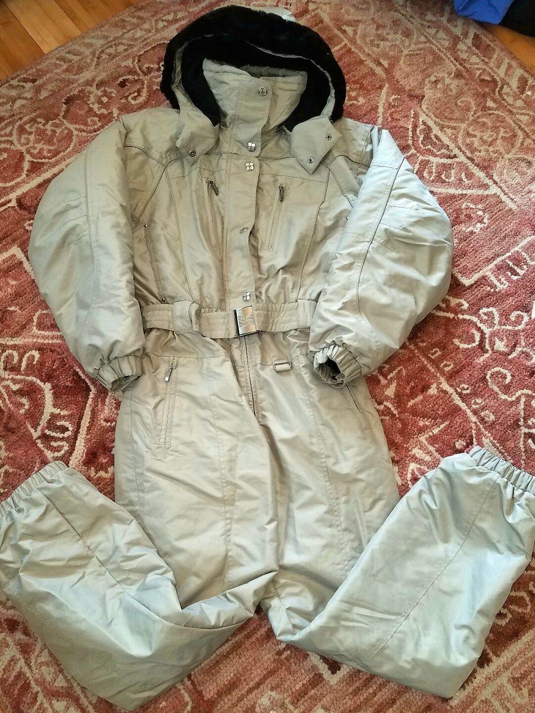 AMAZING COULOIR Signature Hooded Snowsuit Removable Fur Sz 10 Medium Warm Pretty