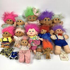 HUGE-LOT-13-Troll-Dolls-Treasure-RUSS-toys-misc-LARGE
