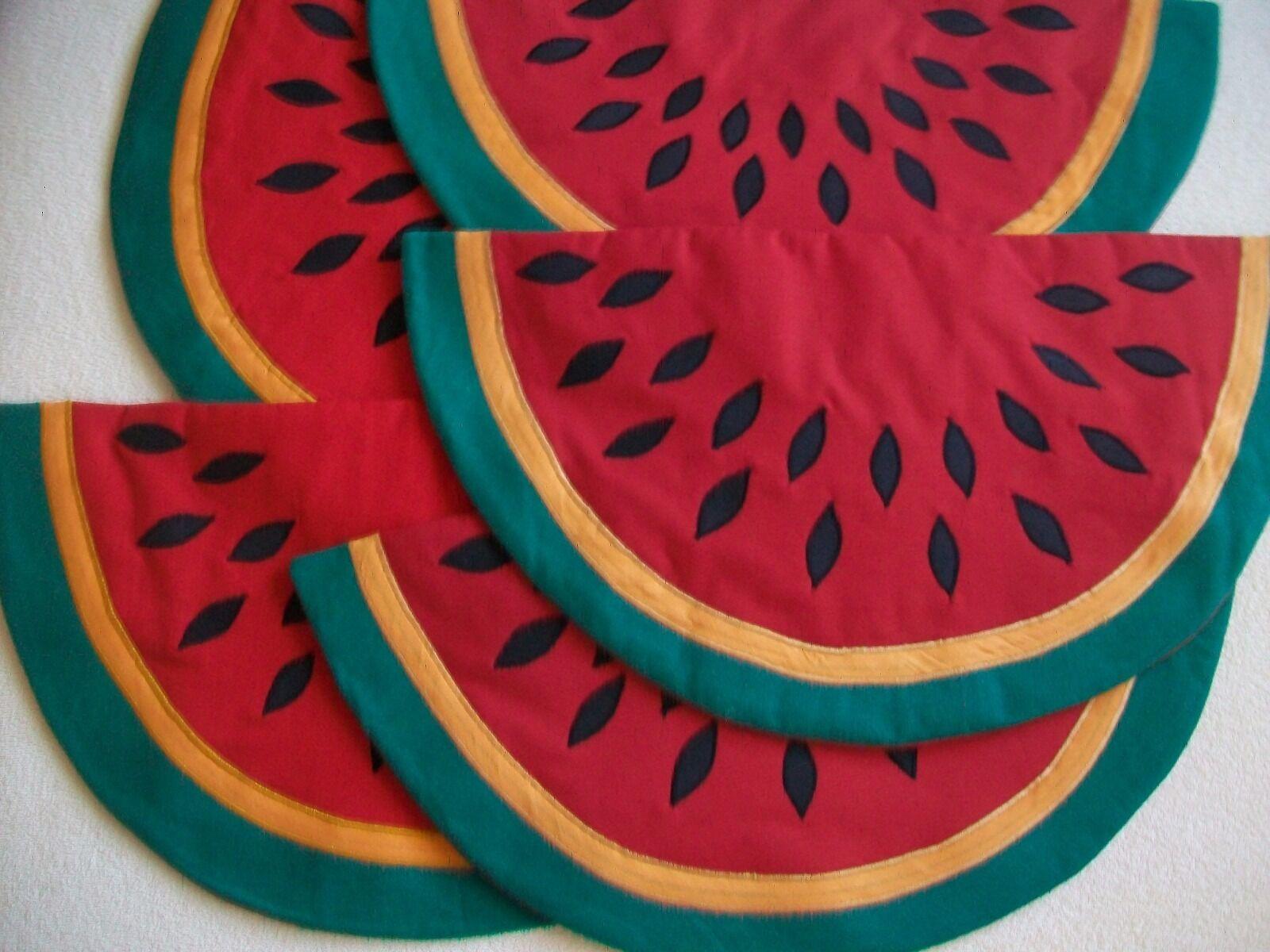 Tischsets Modell  Wassermelone  wattiert selbstgefertigte Unikate neu | Komfort