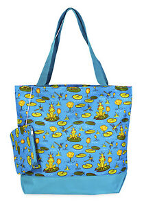 Jenzys-Frog-Prince-Womens-Travel-Tote-Bag-Purse-Handbag-Shopping-Gym-School
