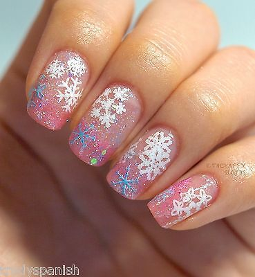Christmas Snowflakes Bows Reindeer Design 3D Nail Art Stickers Decals Transfers