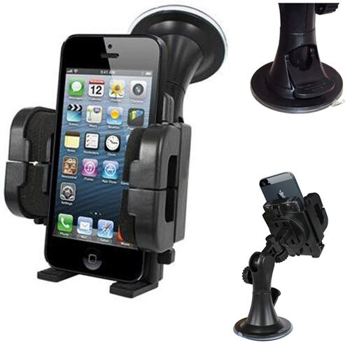 Universal 360° WINDSCREEN CAR KIT MOUNT HOLDER CRADLE- iPhone 5 5s 6 plus s5 s6