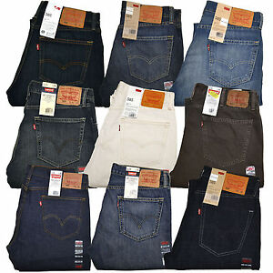 bf6b44abb0c Levis 505 Jeans Straight Leg Zipper Fly Original Mens Denim 30 32 33 ...