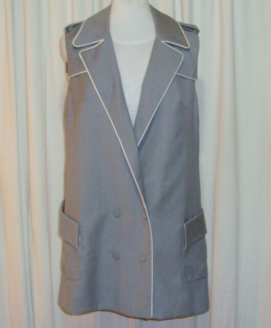BEAUTIFUL CAMILLA AND MARC GREY WOOL VEST DRESS AUS 12 US 8