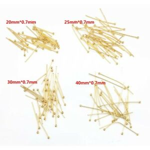 50pcs-Gold-Tone-Stainless-Steel-Ball-Head-Pins-for-Jewelry-Making-20-25-30-40mm