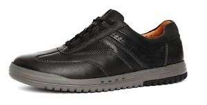 Neuf-HOMME-Clarks-non-Structurees-Unrhombus-Fly-Cuir-Noir-a-Lacets-Chaussures