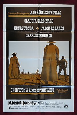 ONCE UPON A TIME IN THE WEST * ORIGINAL MOVIE POSTER 1SH 27X41 RARE RE-RELEASE