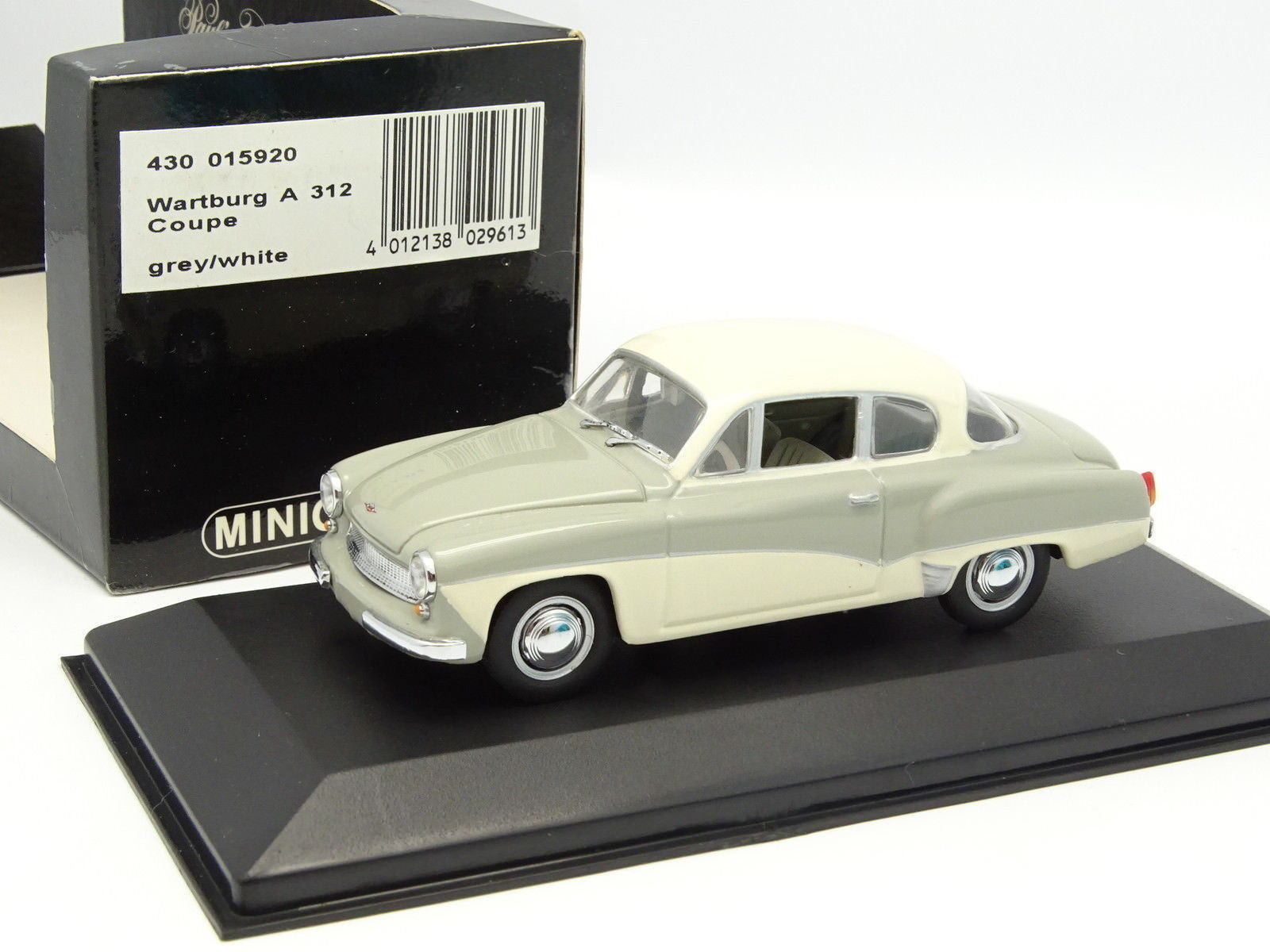 Minichamps 1 43 - skoda a312 coupe grey white