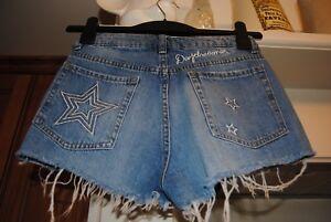 Uk Coachella Stars denim in m Shorts a Festival Size 8 34 H alta vita Eur qwv5UT5
