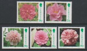 Jersey-1995-Camelias-Fleurs-Ensemble-MNH-Sg-693-7