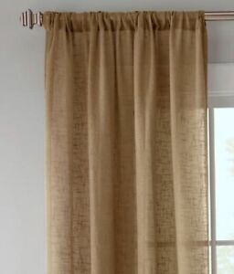 Image Is Loading Country Curtains Linen Semi Sheer Rod Pocket Panels