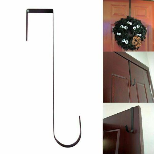 Over The Door Wreath Holder Metal Hook Coat Towel Bag Hanger Uniqu #sd Hono/_