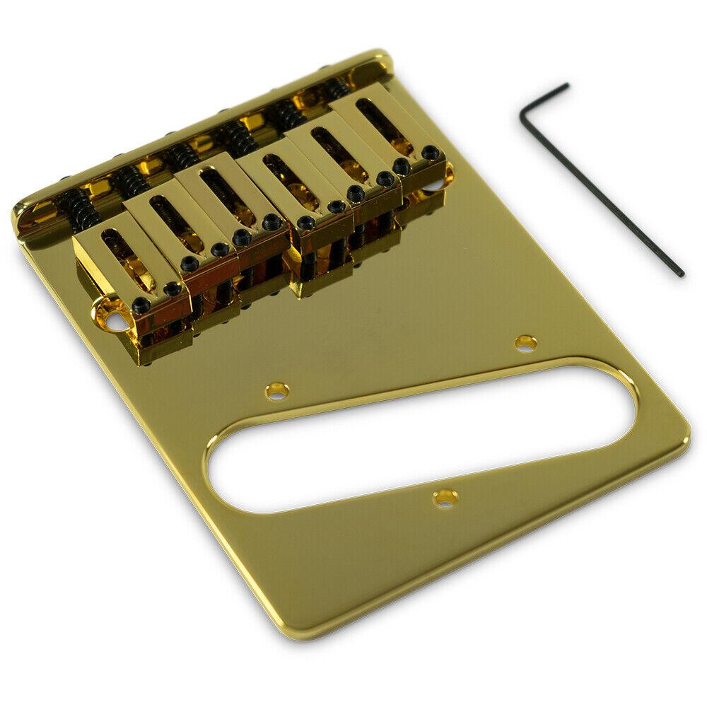 KLUSON USA KCTBS-G BRIDGE FOR FENDER TELECASTER W  STEEL SADDLES RH Gold
