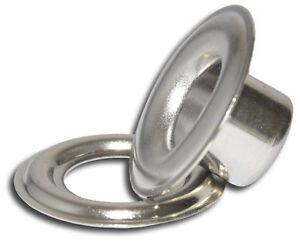 "Micron #3XL(7/16"") L/N 12mm Nickel Self-piercing Grommets & Washers,500 Pc/Ba."