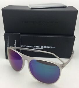 1f4fc7847b1 New PORSCHE DESIGN Sunglasses P 8596 A Matte Frost Frame with Violet ...