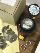New Abb Dn 15 Flow Meter For Fuel Oil Gas Swiss 50ma 50v 10ppg 225psi Usg Rv