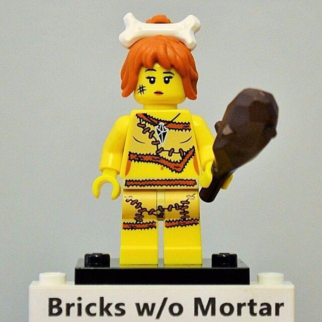 Genuine Lego Mini figure Cavegirl from  series 5