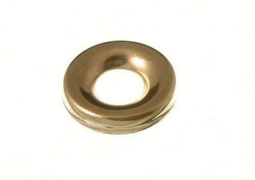 Pack of 100 x SCREW CUP WASHERS N0 10 BRASS PLATED 8E7