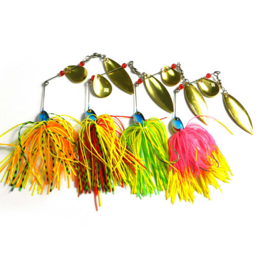 Details about  /4PCS 17g Fishing Lure Spinner Bait Lead Jig Spoon Metal Buzzbait Blade Tackle