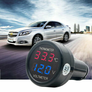 Display-LED-Batteri-per-auto-Termometro-elettrico-Voltmetro-Voltage-Meter-12-24V