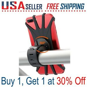 Cell-Phone-Silicone-Mount-Holder-GPS-Motorcycle-MTB-Bike-Bicycle-360-Rotation
