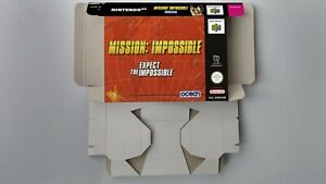 Mission Impossible - Box reproduction with insert - N64 - NTSC, PAL or AU PAL.