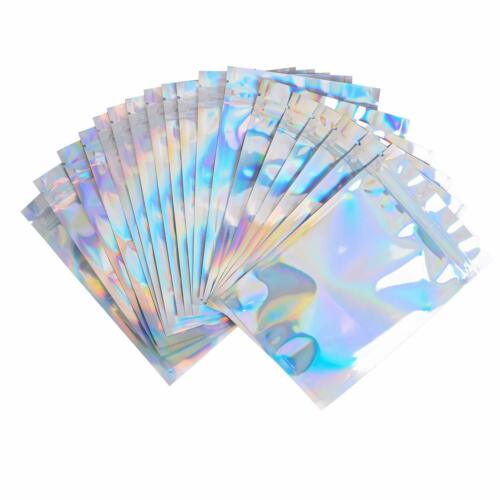 4X6 Inches Reclosable Mylar Bags Resealable Clear Zi 100 Pack Smell Proof Bags