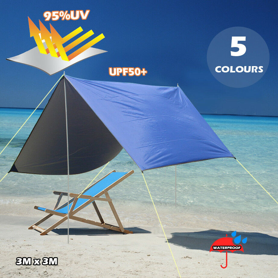 Outdoor Picnic Camping Canopy UPF50+  Sunshade Beach Tent Fishing BBQ Car Shelter  fast shipping to you