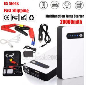 12v Portable 20000mah Car Jump Starter Pack Booster Battery Power
