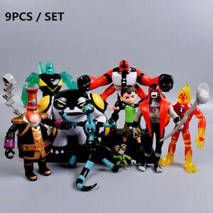 9pcs-Ben-10-Ben-Tennyson-Four-Arms-Heatblast-Grey-Matter-PVC-Action-Figures-Toys