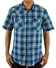 NEW Alpinestars Men/'s JADE PLAID Short Sleeve Woven Shirt DARK CYAN M