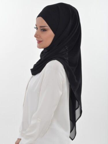 CS-15 Fertig Kopftuch Praktisch Hijab Chiffon Türban Esarp Sal Tesettür Khimar