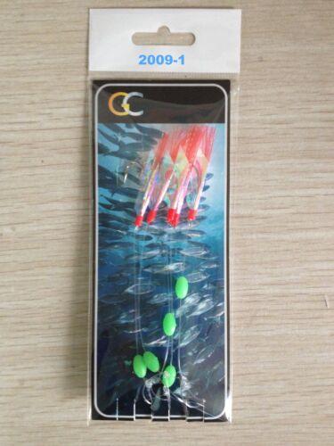 5X5 HOOKS 2009-1 Lumi Reflect Mackerel Feather hockeye sea lure Sea hokki rigs