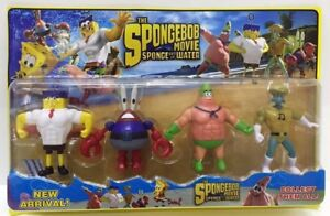 Spongebob-Squarepants-The-Movie-Set-of-4-Figures-playset-Cake-toppers-AU