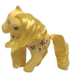 Vintage G1 My Little Pony 1987 Twice As Fancy Yellow Dancing Butterflies