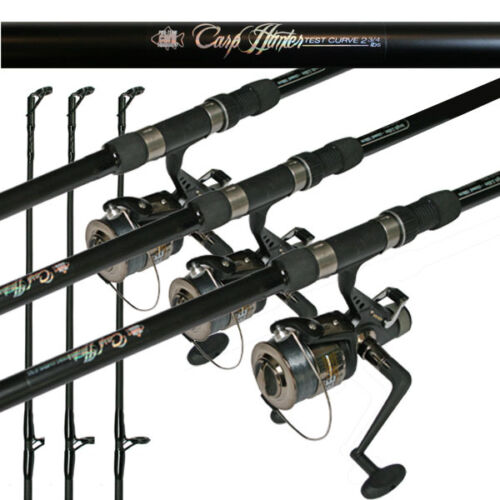 12ft 2 Piece Fishing Carp Rod 2.75lb & BTR Freespool Reel + Line X 3