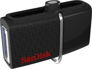 SanDisk Ultra Dual 64GB USB Drive 3.0 ( up to 130 MB/s )  ( SDDD3-064G-I35)