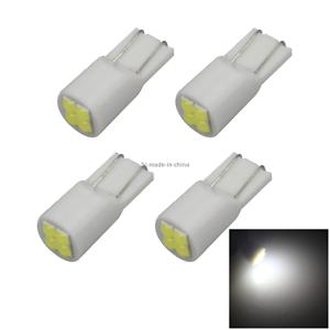 4x White Auto T10 W5W Wedge Light Parking Bulb 4 3030 SMD LED Z2953
