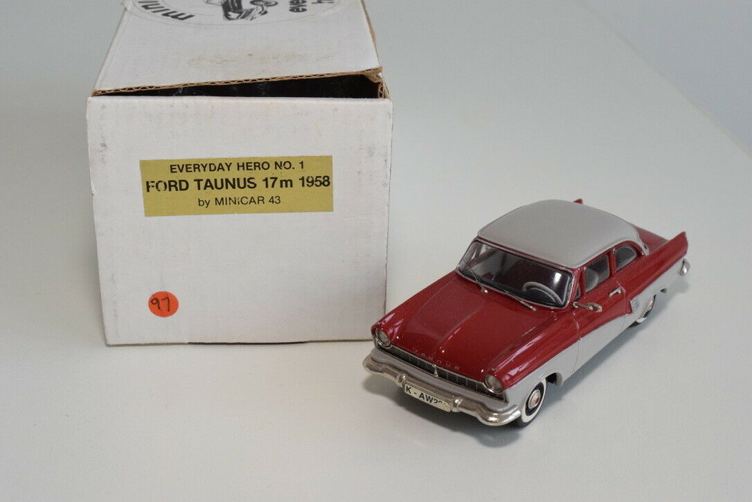 FF 1 43 MINICAR 43 EVERYDAY HERO NO. 1 FORD TAUNUS 17M 1958 TWO TONE MIB RARE