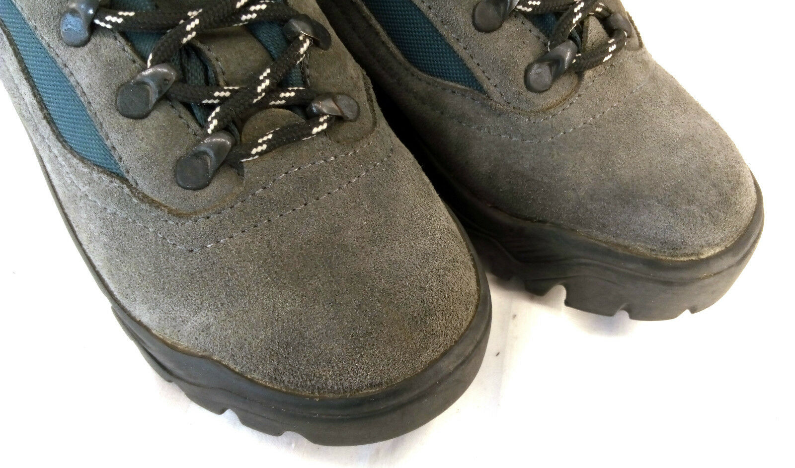 McKinley Aquamax Outdoor Boots Wanderstiefel Grau-Blau Wildleder Gr. 40 TOP