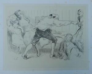 Beau Dessin Original Fusain HERMANN-PAUL (1864-1940) c.1900 Le Sauveur #5