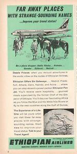 1964-Original-Advertising-039-American-Ethiopian-Airlines-Company-Aerial-Far-Away