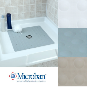 Image Is Loading Large Non Slip Rubber Shower Mat With Microban