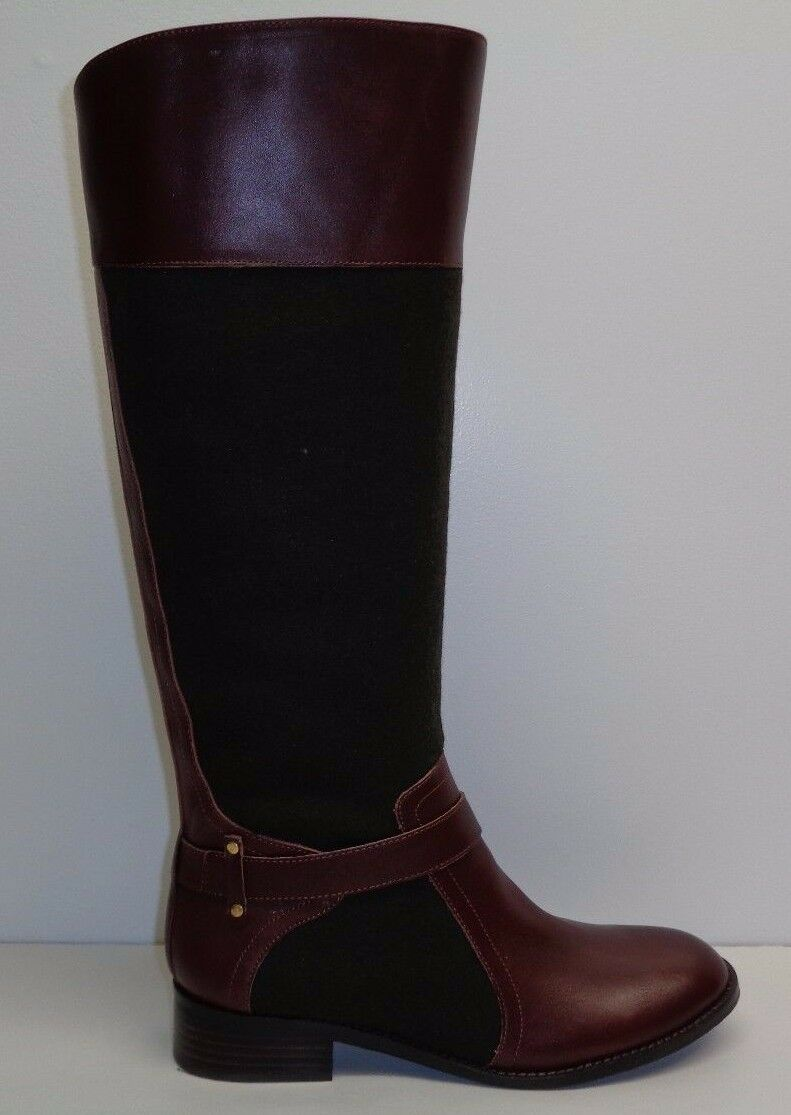 Antonio Melani Size 6 M ERNA Brown Leather Wool Knee High Boots New Womens shoes